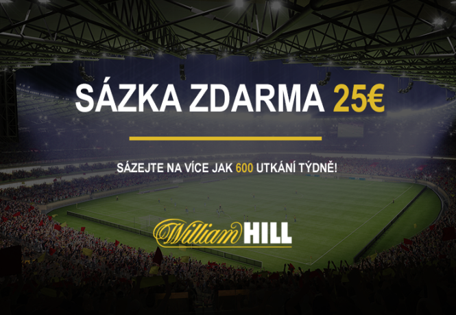 William Hill 25eur zdarma