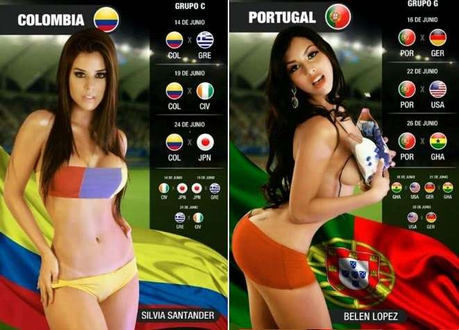 4 world cup hot girls