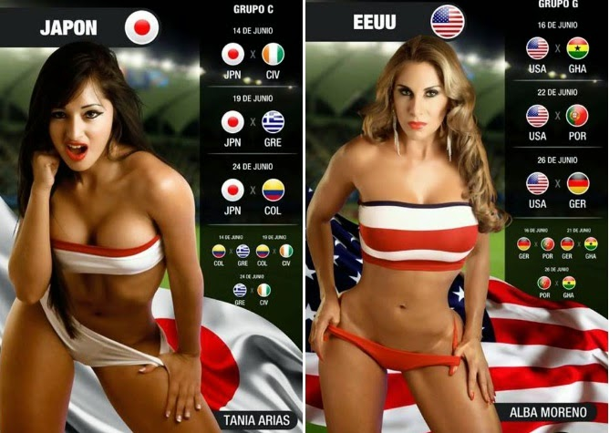 5 world cup hot girls