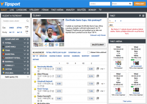 Tipsport screenshot