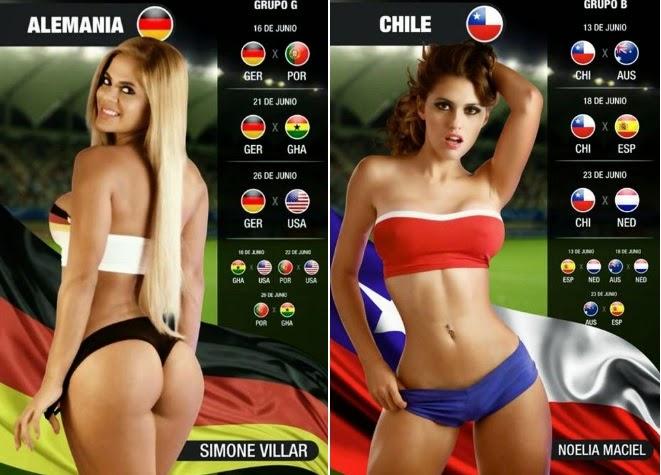 3 world cup hot girls