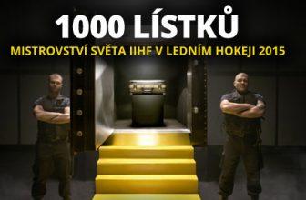 Fortuna rozdává 1000 lístků na MS IIHF vledním hokeji 2015 a1000000 Kč vbonusech