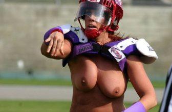 FOTO / VIDEO: Polonahé holky hrajou americký fotbal