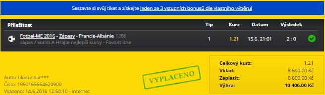 TOP tikety nejen z EURO aneb zápas za 800 litrů!