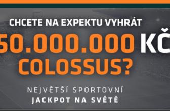 Ve sportovních sázkách Colossus se hraje o jackpot 250.000.000 Kč