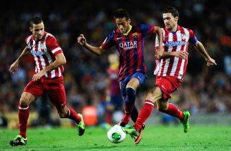 Zápas kola mezi Atleticem a Barcelonou