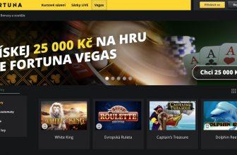 Fortuny získala jako první licenci na provoz online casina, jmenuje se Vegas a nabízí bonus 25.000 Kč