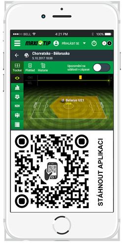 Maxitip.cz - mobilní aplikace / live sázení