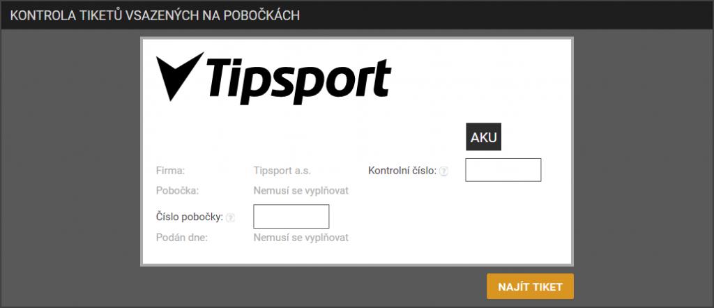 Tipsport nabízí on-line kontrolu tiketů vsazených na pobočce