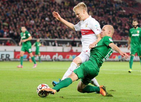 Evropských pohárů chtivých Augsburg hostí Stuttgart