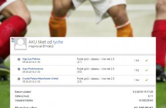 Rozbor tiketu, který sliboval 61 tisíc. Padlo více než 2,5 gólu?