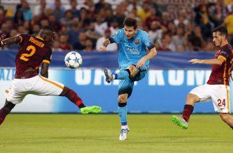 Odveta čtvrtfinále Ligy mistrů mezi AS Řím a Barcelonou