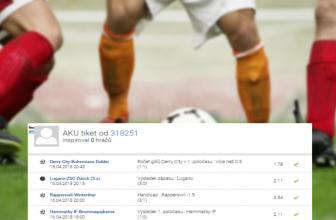 Rozbor tiketu: Tipy na fotbal přinesly 36.100,- Kč!
