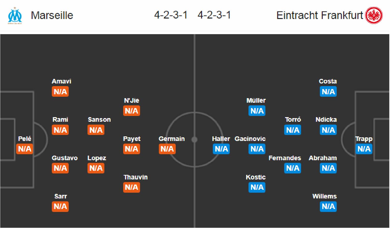 Marseille - Eintracht Frankfurt
