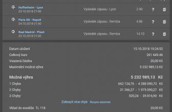 Plachta: Kombi tiket na Ligu mistrů se sázkou 20 korun a možnou výhrou 6,5 milionu