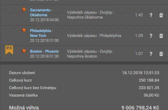 Plachta: Tiket na noční zápasy NHL a NBA se sázkou 36 korun a možnou výhrou 9 milionů