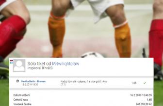 Analýza tiketu: Hertha remizovala s Werderem a sázkař vyhrál přes 400.000,- Kč
