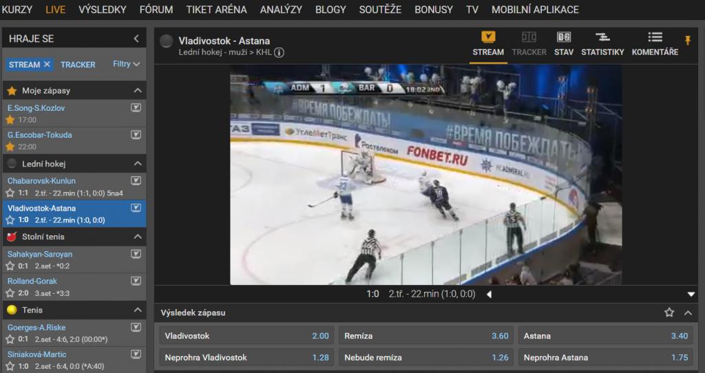 Tipsport jakožto hlavní sponzor nejvyšší české hokejové soutěže má na Extraligu ty nejkvalitnější streamy.