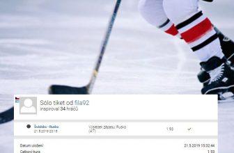 Analýza tiketu: Rusko porazilo Švédsko a výhra 96.000,- Kč byla na světě