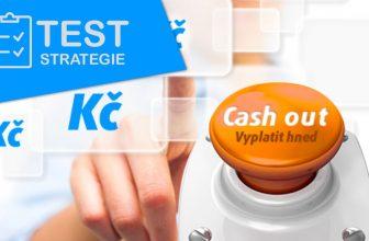 Test strategie, který se opírá o možnost cash out v průběhu zápasu (předčasné vyplacení peněz)