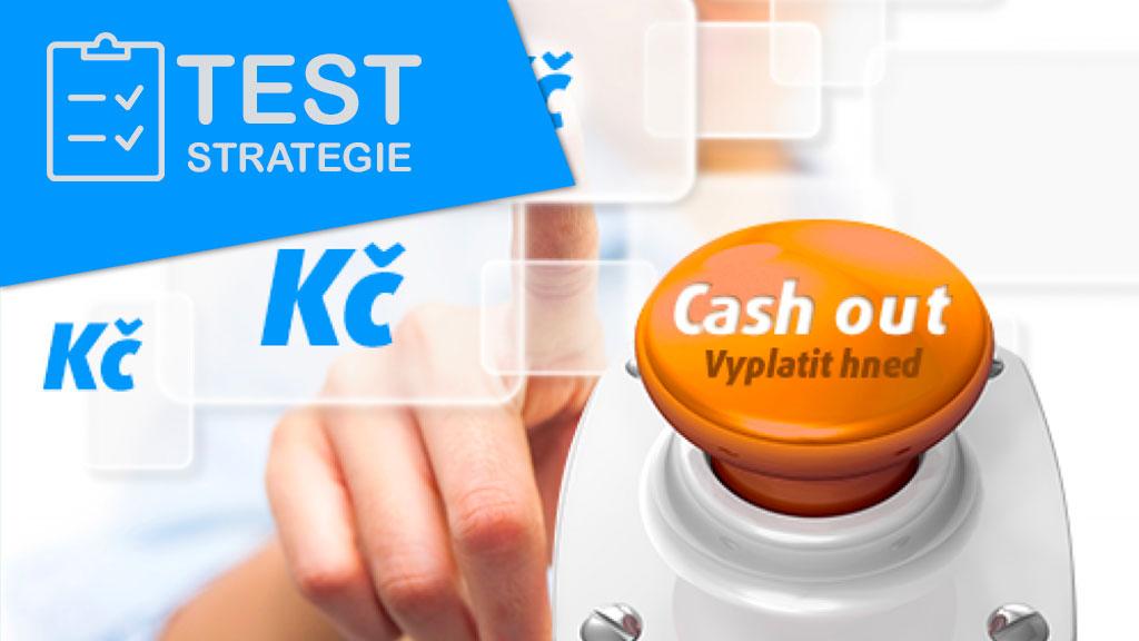 Test systému, který se opírá o možnost cash out v průběhu zápasu (předčasné vyplacení peněz)