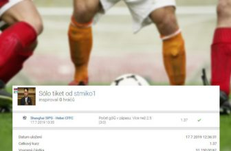 Analýza tiketu: I na čínský fotbal se dá tipovat, dokládá sázenka svýhrou 70.000,- Kč
