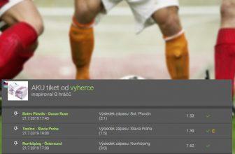Analýza tiketu: Tip na výhru Slavie i zápasy z Bulharska a Švédska přinesly 100 tisíc