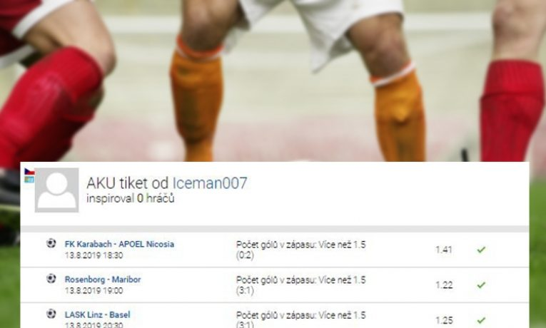 Rozbor tiketu: 4 tipy na více než 1,5 gólu v zápase vydělaly sázkaři 37 tisíc!