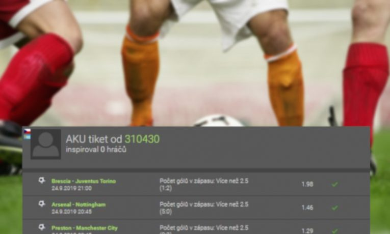 """Analýza tiketu: Tip """"padne více než 2,5 gólu"""" přinesl sázkaři odměnu téměř 50.000,- Kč!"""