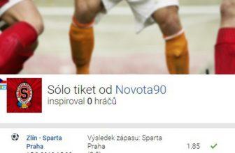 Analýza tiketu: Sparta vyhrála ve Zlíně a sázkař díky tomu kasíroval 92 tisíc!