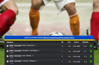 Rozbor tiketu: Kvarteto zápasů z Champions League včetně prohry Slavie znásobilo tipérův vklad 8,5x!