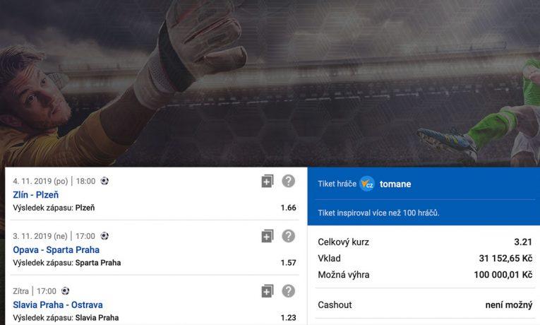 Tiket na Fortuna ligu - platnost tiketu od 2.11.2019