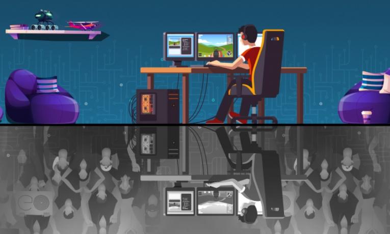 Při online hraní mají hráči větší pohodu.